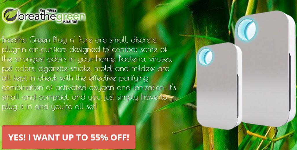Breathe Green Plug N' Pure Air Purifier